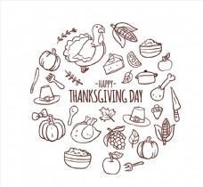 30款手绘感恩节元素