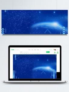 蓝色简约智能科技背景