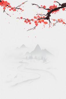 中国风花鸟古典水墨