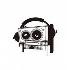 收音机卡通形象
