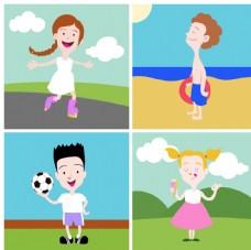 快乐的儿童插图