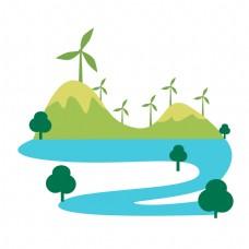 环保植物风车插图
