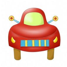 红色的汽车装饰插画