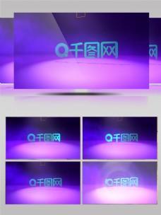 光线和文字旋转揭示logo模板
