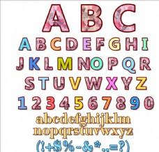卡通数字字母