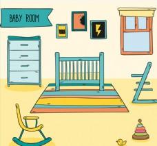 彩绘婴儿房设计