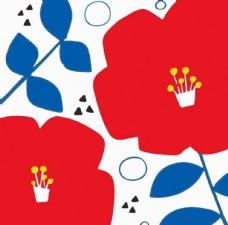 抽象花朵平铺图