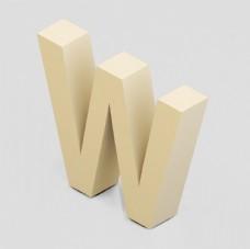 立体3D英文字母W