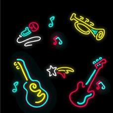 乐器米红灯可爱流星 音符