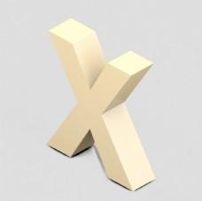 立体3D英文字母Y