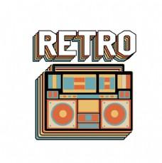 收音机创意图案