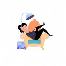 沙发躺椅简约装饰元素