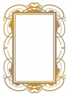 长方形欧式花纹边框