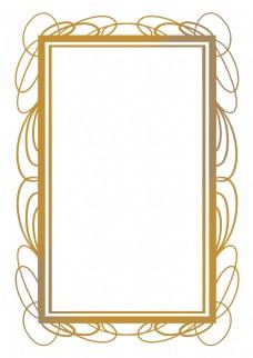 金色花纹欧式边框