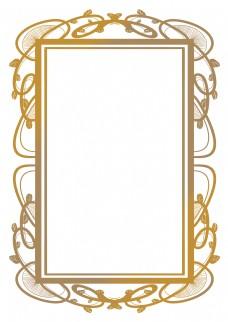 精美的金色花纹边框
