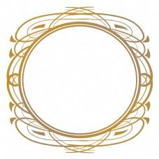 圆形古典花纹边框