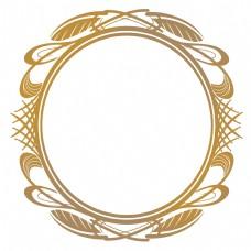圆形传统花纹边框