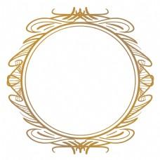 圆形欧式花纹边框