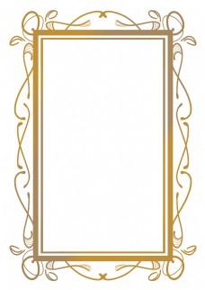 欧式金色花纹花边框
