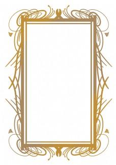 长方形金色欧式边框
