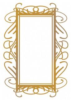 创意金色欧式边框