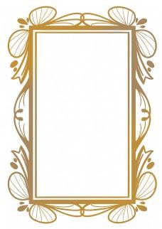 欧式长方形花边框