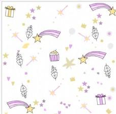 仙女魔法棒叶子星星礼盒素材