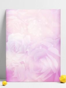 清新粉色浪漫温馨玫瑰花朵背景图