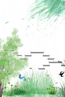 小清新春天背景图