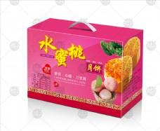 水蜜桃月饼包装展开图不含效果图