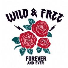 玫瑰花创意海报设计