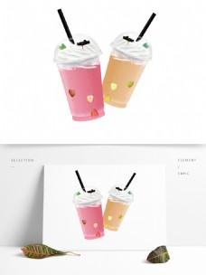 奶茶果汁饮料杯PNG素材