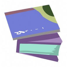 创意蓝色书籍插画