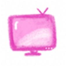 粉色电视机屏幕图标