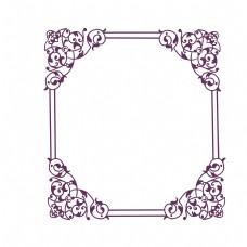 四角花纹欧式边框
