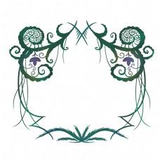 绿色藤蔓欧式边框