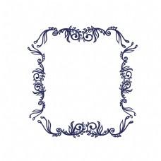 精美的欧式花纹边框
