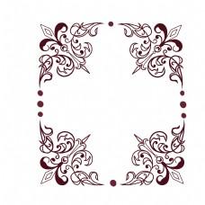 方形欧式花边框装饰