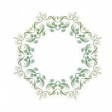 圆形绿色欧式边框
