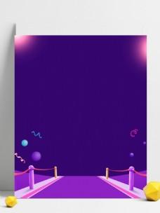 紫色卡通愚人节广告背景