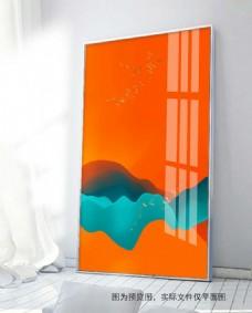 北欧抽象色块装饰画