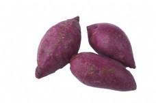 三个香甜软糯的紫薯