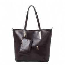 黑色女士大容量挎包