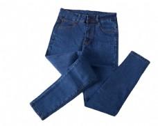 蓝色牛仔裤女宽松