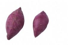 两个新鲜美味紫薯