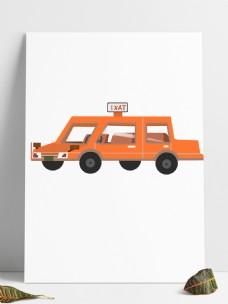 卡通手绘出租汽车