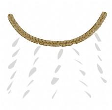 日本麦穗装饰插画