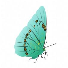 彩蝶动物飞翔插画
