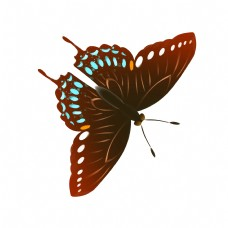 可爱的蝴蝶装饰插画