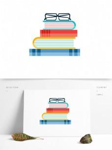 世界读书日手绘矢量书本素材